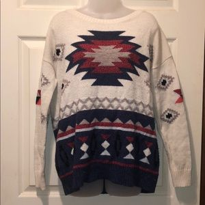 American Eagle Aztec Sweater Size Large
